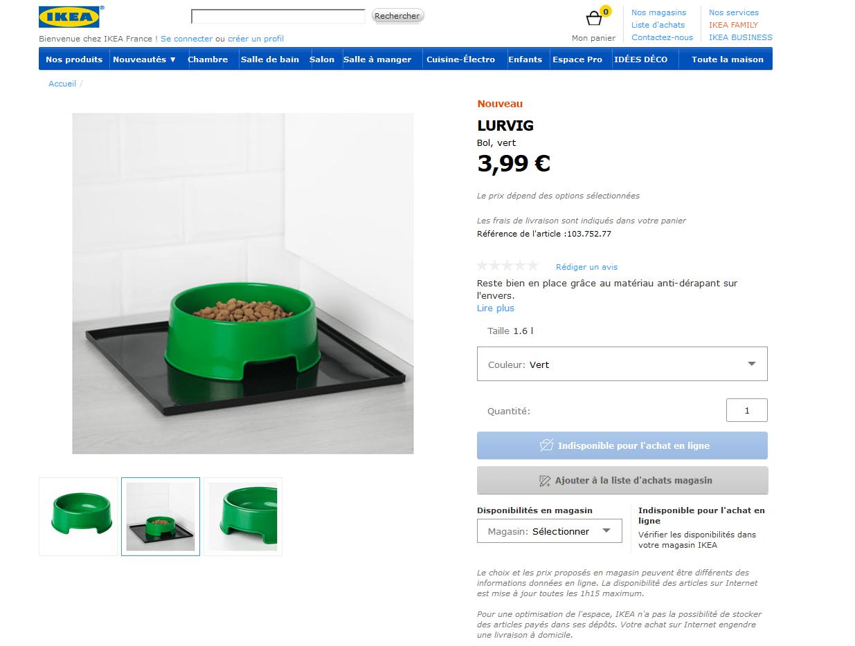 La gamme Ikea pour animaux de compagnie